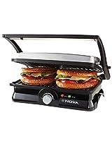 Nova NSG 2451 2000-Watt 3-in-2 Grill Sandwich Maker (Black/Grey)