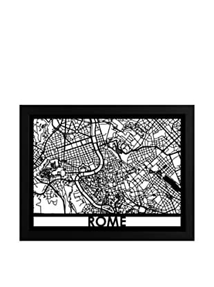 Cut Maps Rome Framed 3-D Street Map