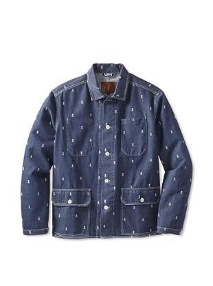 Agave Denim Men's Potter Jacquard Jacket (Indigo)