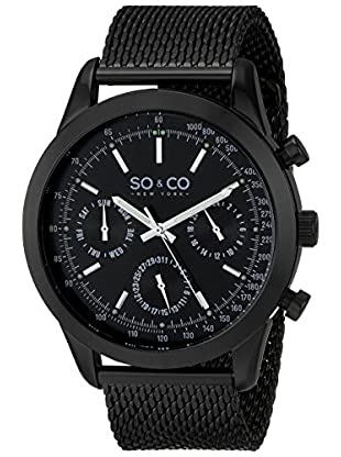 SO&CO NEW YORK Quarzuhr 5006.3 44 mm schwarz