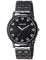 Sonata Analog Black Dial Men's Watch - 77031NM01