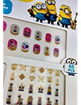 Cjb Miniors Decorative Nail Art Sticker 65 Pieces (Us Seller)