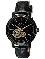 Rotary Analog Black Dial Men's Watch-GS9050204