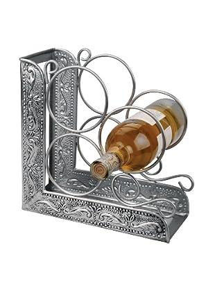 Old Dutch International Antiqued Embossed Victoria 3-Bottle Bookend Wine Rack