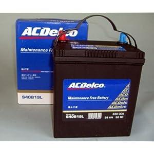【クリックで詳細表示】ACDelco [ エーシーデルコ ] 国産車バッテリー [ Maintenance Free Battery ] S40B19L: 車&バイク