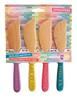 Talisman Designs Beechwood Spreaders, Set of 4, Spread Out, Lay It On, Dress It, Dig In, 6.75-inches