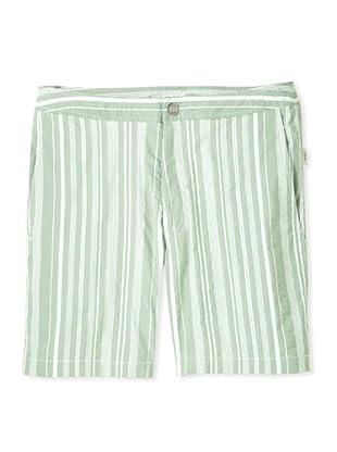 Onia Men's Spanish Calder Swim Short (Green Stripe)
