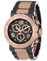 "Invicta Men's 6763 ""Reserve Collection"" 18k Rose Gold Ion-Plated Stainless Steel and Black Dial Watch"