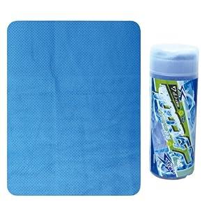 ブレイン 《急速冷感~約1分間水に浸すだけ》 ビタCOOLタオル ブルー 【32×43cm】