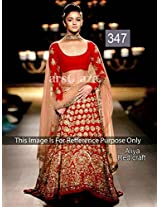 Bollywood Replica Alia Bhatt Red Designer Lehenga Choli