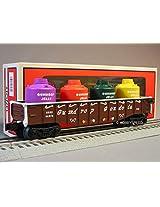 Lionel Gingerbread Junction Gondola W Canister Load Train 6 30219 Car 6 26470