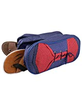 Bazaar Pirates Shoe Organizer And Bag For 2 Pairs (Blue,Red)