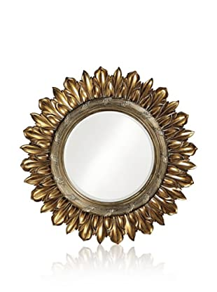 Nepal Mirror, Antique Bronze