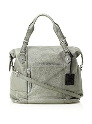 OH by Joy Gryson Women's Unzipped Front Pocket Satchel (Grey)