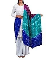 Unnati Silks Women Casual multicolor art silk chunni