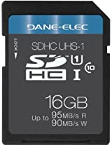Dane Electronics SD UHS-1 16 GB Digital Card (DANE UHS 1 CL10 16GB SD SML)