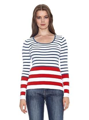 Jackpot T-Shirt Bengerd (Bianco/Blu/Rosso)