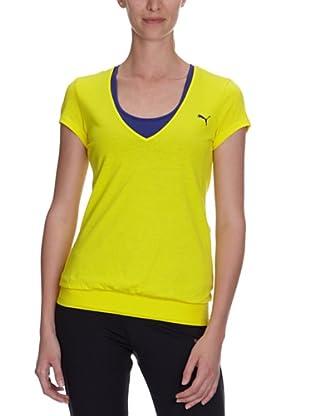 PUMA T-Shirt TP Trend (buttercup/navy blue)