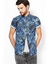 Blue Gubby Print Denim Shirt River Island