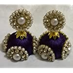 Purple Fashion Jhumki Earring