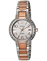 Casio Sheen Analog White Dial Women's Watch - SHE-4804SG-7AUDR (SX129)