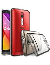 ASUS ZenFone 2 (5.5 Inch) Case - Ringke FUSION ***Earphone Hole Dust Cap & Drop Protection*** ENHANCED AND REVISED [FREE HD Film][SMOKE BLACK] Premium Clear Back Shock Absorption Bumper Hard Case for ASUS ZenFone 2 [ZE550ML/ZE551ML 5.5 - Not for ZE500CL] - Eco/DIY Package ...