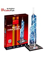3d Puzzle Paper Model Bank of China Tower 14pcs