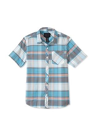 O'Neill Boy's 8-20 Cumberland Woven Shirt (Blue)