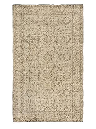 eCarpet Gallery One-of-a-Kind Hand-Knotted Anatolian Rug, Light Grey, 3' 11