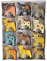 Rajasthani Colors Of Handicrafts Animal Key Chain Set of 12 - 3.81 Cm