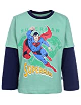 Cucumber T-Shirt Doctor Sleeves - Flying Superman Print