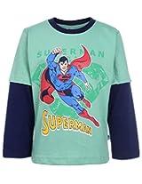 Cucumber T-Shirt Doctor Sleeves - Flying Superman Print