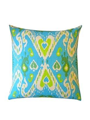 Cor Throw Pillow, Blue/Green