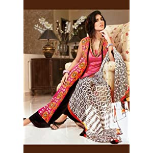 Pink Cotton Lawn Readymade Kameez with Palazzo Pants