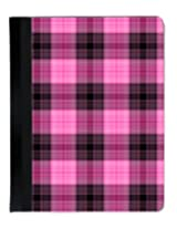 Insomniac Arts - Hot Pink and Black Plaid iPad 2, 3rd and 4th Generation Cover