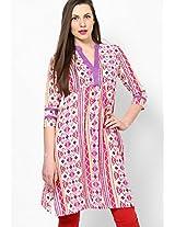 Cotton Blend Pink Kurti Dhwani