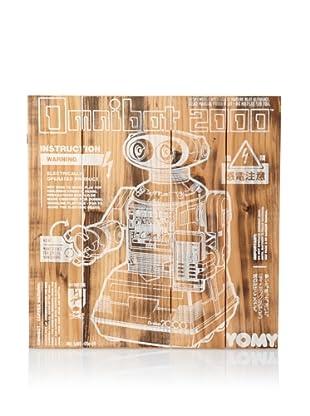 Magnetic Grain Screenprinted Wall Panel (Wood/Cream)