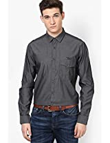 Grey Full Sleeve Casual Shirt