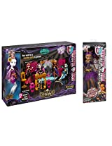 Maven Gifts: 13 Wishes Party Lounge & Spectra Vondergeist Doll Playset With Clawdeen Wolf Doll