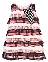 PINK AND BLACK FRILL DRESS for 2 Year old