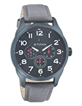 Titan Purple Chronograph Black Dial Men's Watch -  9479AF04