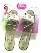 Disney Princess Collection Tiana Shoes Slippers Clear Green with Sparkles for Children to Dress up A