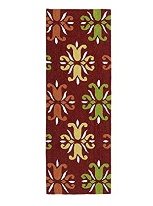 Kaleen Escape Indoor/Outdoor Rug, Red, 2' x 6' Runner