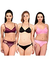 Urbaano Multi HINA Bridal Set-URM0909T-Pink , Purple , Black (32)