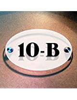 Ovalica - House Number Sign - White Back - 16cms x 10cm