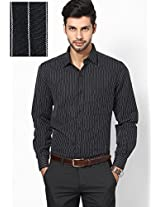 Black Slim Fit Formal Shirt John Players