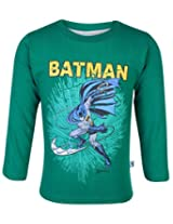 Cucumber Full Sleeves T-Shirt Batman Print - Green