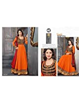Akshara Orange Designer Anarkali Suits