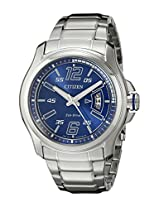 Citizen Men's AW1350-83M Drive from Citizen HTM Analog Display Japanese Quartz Silver Watch
