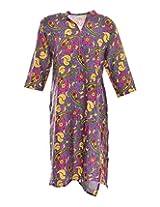 2Dots Women's Cotton Regular Fit Kurti (Multicolour, 44 Inches)